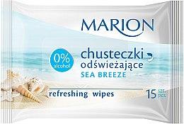 """Voňavky, Parfémy, kozmetika Osviežujúce obrúsky """"Sea Breeze"""", 15ks - Marion"""