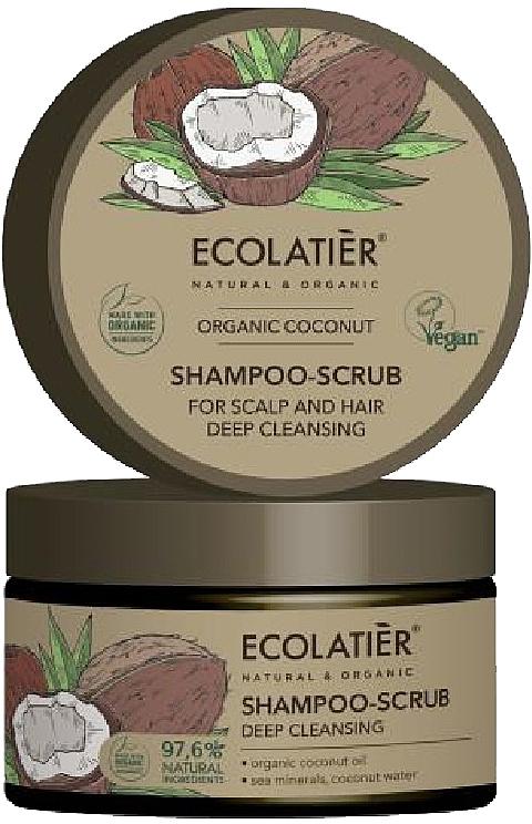 """Scrubový šampón na vlasy """"Hĺbkové čistenie"""" - Ecolatier Organic Coconut Shampoo-Scrub"""