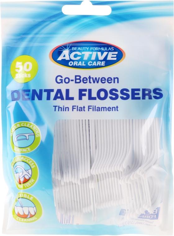 Dentálne špáradlá s niťou - Beauty Formulas Active Oral Care Dental Flossers