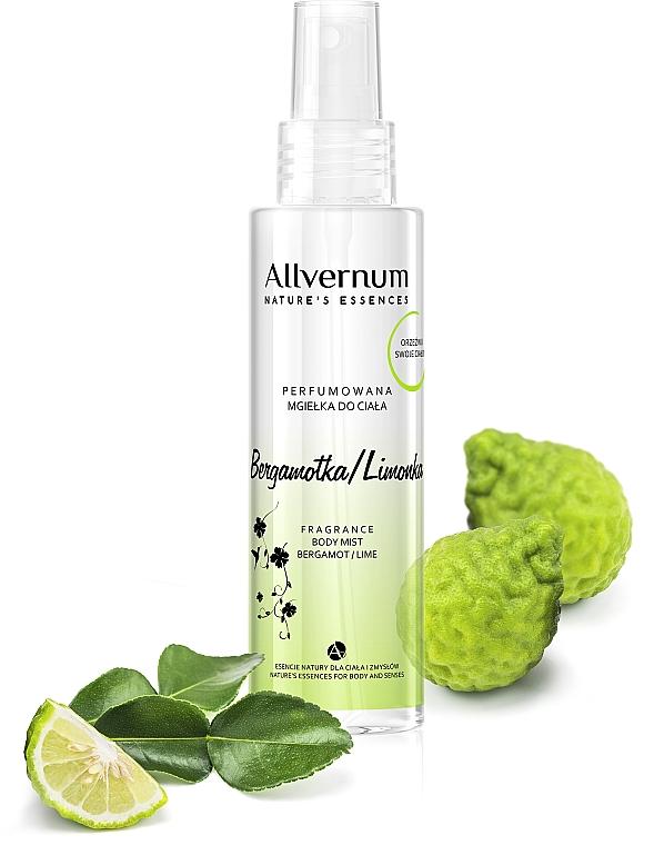"""Parfumovaný sprej na telo """"Bergamot Lime"""" - Allverne Nature's Essences Body Mist"""