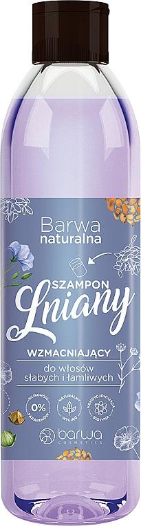 Bielizeň spevňujúci šampón s komplexom vitamínov - Barwa Natural Flax Shampoo With Vitamin Complex