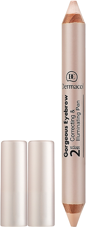 Ceruzka-korektor na obočie - Dermacol Gorgeous Eyebrow Correcting Illuminating Pen
