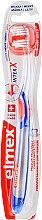 Voňavky, Parfémy, kozmetika Mäkká zubná kefka priehľadná s modro-oranžovou farbou - Elmex Toothbrush Caries Protection InterX Soft Short Head