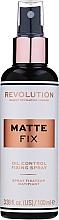 Voňavky, Parfémy, kozmetika Sprej pre fixačné make-up - Makeup Revolution Matte Fix Oil Control Fixing Spray