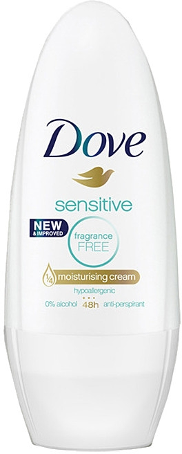 Valčekový antiperspirant - Dove Sensitive Deodorant Roll-On — Obrázky N1