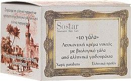 Voňavky, Parfémy, kozmetika Nočný krém - Sostar Skin Whitening Night Cream with Organic Donkey Milk