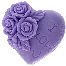 """Voňavky, Parfémy, kozmetika Prírodné mydlo """"Milujem ťa"""", fialové - LaQ Happy Soaps"""