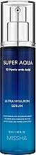 Voňavky, Parfémy, kozmetika Hydratačné sérum na tvár - Missha Super Aqua Ultra Hyalron Serum