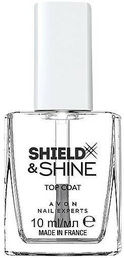 """Top Coat na nechty """"Zrkadlový lesk"""" - Avon Nail Experts Shield & Shine Top Coat — Obrázky N1"""