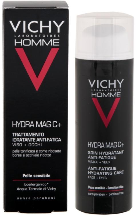 Hydratačný krém na tvár a očné viečka - Vichy Homme Hydra Mag C+ Anti-Fatigue Hydrating Care — Obrázky N1