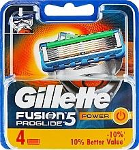 Voňavky, Parfémy, kozmetika Vymeniteľné kazety na holenie, 4 ks. - Gillette Fusion ProGlide Power