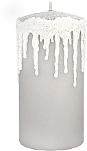 Voňavky, Parfémy, kozmetika Dekoratívna sviečka, Cencúle, šedá, 7x14cm - Artman