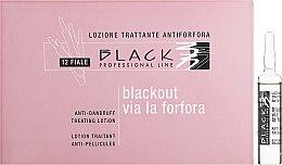 Voňavky, Parfémy, kozmetika Lotion proti lupinám v ampulkách - Black Professional Line Anti-Dandruff Hair Lotion