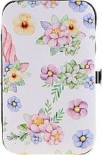 Voňavky, Parfémy, kozmetika Sada na manikúru 2429, biela s kvetmi - Donegal Manicure Set
