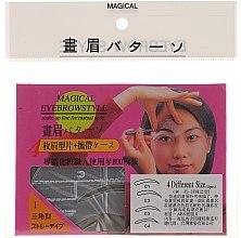 Voňavky, Parfémy, kozmetika Šablóna na obočie, veľkosť C1, C2, C3, C4 - Magical Eyebrow Style