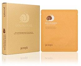 Voňavky, Parfémy, kozmetika Hydrogélová maska na tvár so zlatom a slimákom - Petitfee & Koelf Gold & Snail Hydrogel Mask Pack