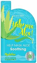 Voňavky, Parfémy, kozmetika Upokojujúca maska na tvár - Dewytree Help Me Aloe! Soothing Mask