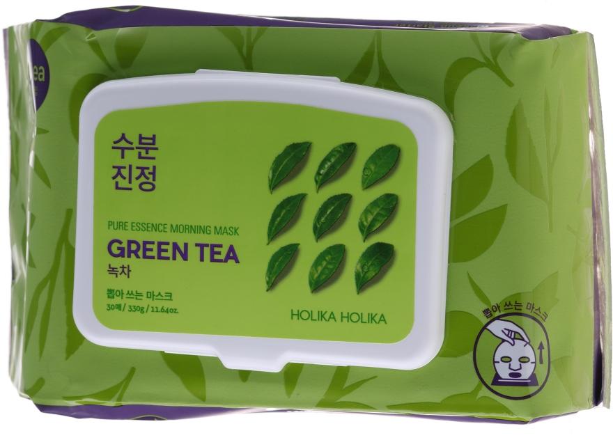 Expresné tvárová maska so zeleným čajom - Holika Holika Pure Essence Morning Mask Green Tea — Obrázky N1