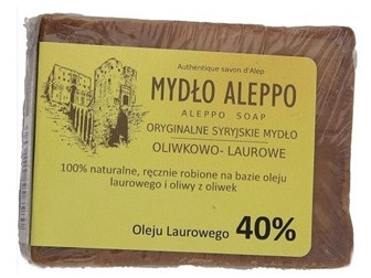 Tradičné sýrske mydlo, 40% zálivkový olej - Biomika Aleppo Soap