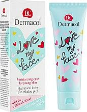Voňavky, Parfémy, kozmetika Emulzia na tvár s vôňou marhúľ a vanilky - Dermacol Love My Face Apricot & Vanilla Scent Face Cream