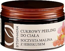 """Voňavky, Parfémy, kozmetika Cukrový peeling na telo """"Šťavnatá malina s ibištekom"""" - Bosphaera"""