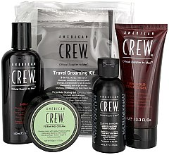 Voňavky, Parfémy, kozmetika Sada - American Crew Travel Grooming Kit (gel/100 ml + cr/50 g + sh/gel/100 ml+ sh/cr/50 ml)