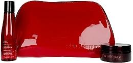 Voňavky, Parfémy, kozmetika Sada - Shu Uemura Art Of Hair Color Lustre (shmp/75ml + h/wax/77ml + bag)