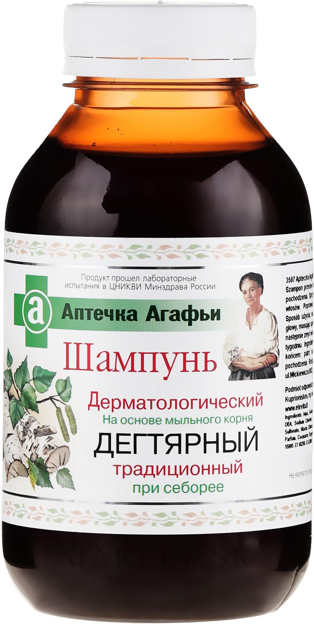 Dermatologický dechtový šampón - Recepty babičky Agafy Lekárnička Agafy — Obrázky 300 ml