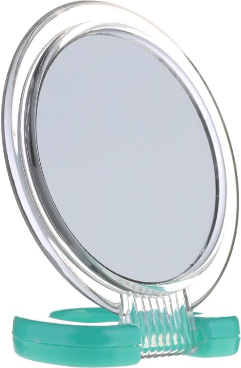 Kozmetické vreckové zrkadlo, 5053, zelené - Top Choice