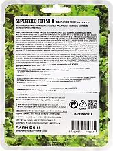 "Textilná maska na tvár ""Kapusta Kale"" - Farmskin Superfood For Skin Purifying Sheet Mask — Obrázky N2"