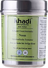"Voňavky, Parfémy, kozmetika Bylinná maska pre tvár ""Neem"" - Khadi"