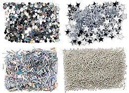 Voňavky, Parfémy, kozmetika Nabor glitterový, striebro - Peggy Sage Nail Glitter Mini Kit Argent