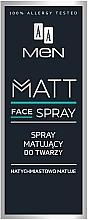 Voňavky, Parfémy, kozmetika Pánsky zmatňujúci sprej na tvár - AA Men Matt Face Spray