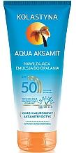 Voňavky, Parfémy, kozmetika Hydratačný lotion na opaľovanie - Kolastyna Aqua Aksamit SPF50