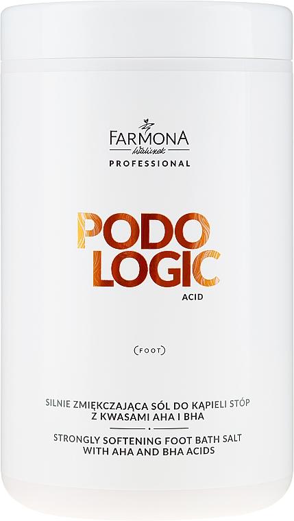 Zmiernená soľ na nohy - Farmona Podologic Acid Strongly Softening Foot Bath Salt — Obrázky N1