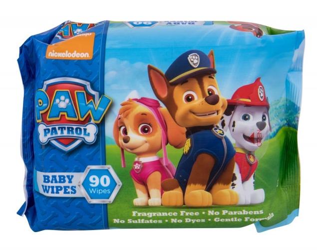 Vlhčené obrúsky, 90ks - Nickelodeon Paw Patrol Baby Wipes — Obrázky N1