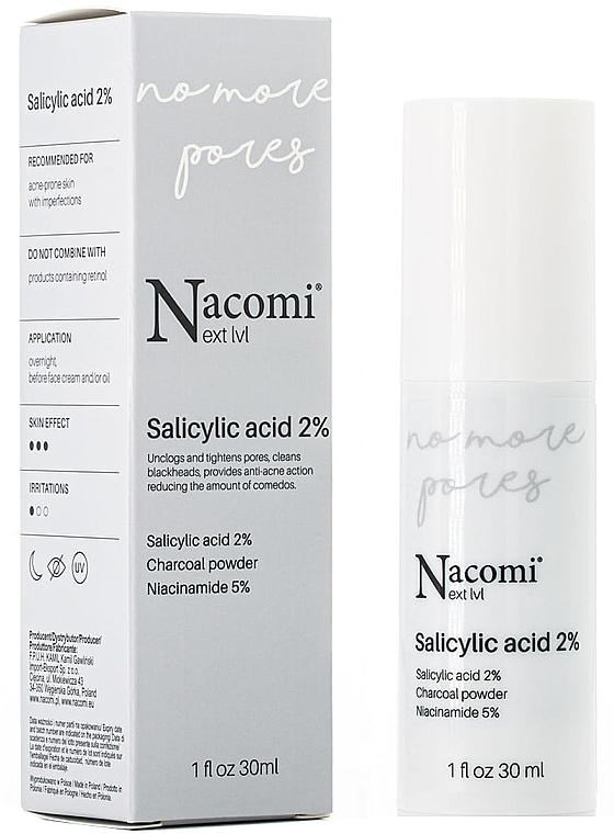 Sérum na tvár s 2% kyselinou salicylovou - Nacomi Next Level Salicylic Acid 2%