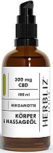 """Voňavky, Parfémy, kozmetika Masážny olej """"Bergamot"""" - Herbliz CBD"""