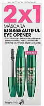 Voňavky, Parfémy, kozmetika Sada - Astor Big & Beautiful Eye Opener Set (mascara/2x12ml) (910 -Black)