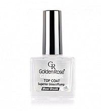 Voňavky, Parfémy, kozmetika Vrchový náter na laky - Golden Rose Top Coat Gel Look