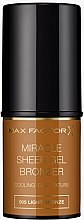 Voňavky, Parfémy, kozmetika Bronzer v tyčinke - Max Factor Miracle Sheer Gel Bronzer