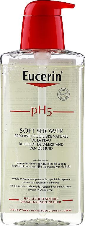 Jemný sprchový gél - Eucerin pH5 Soft Shower Gel Dry & Sensitive Skin — Obrázky N1