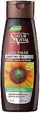 Voňavky, Parfémy, kozmetika Maska na zachovanie farby zafarbených vlasov - Natur Vital Coloursafe Henna Hair Mask Chestnut Hair