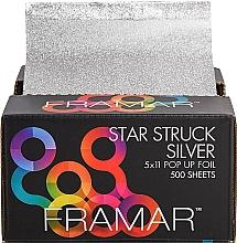 Voňavky, Parfémy, kozmetika Kadernícka fólia s textúrou, 12,5 x 28 cm - Framar Star Struck Silver