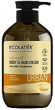 """Voňavky, Parfémy, kozmetika Krém na ruky a telo """"SOS Hĺbková výživa. Marula, orech kukui a panthenol"""" - Ecolatier Urban Nourishing Body & Hand Cream"""