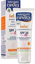 Voňavky, Parfémy, kozmetika Detský krém na ochranu tváre - Instituto Espanol Babe Protective Facial Cream SPF20
