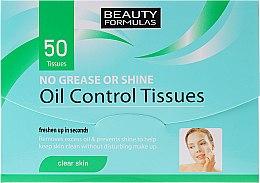 Voňavky, Parfémy, kozmetika Matujúce obrúsky pre tvár - Beauty Formulas Oil Control Tissues