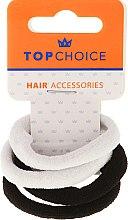 Voňavky, Parfémy, kozmetika Gumička do vlasov 4 ks, čierno-biele - Top Choice