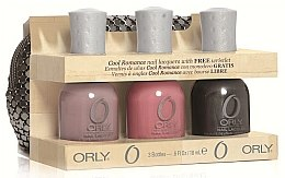 Voňavky, Parfémy, kozmetika Sada - Orly Cool Romance 3 Piece Gift Set (nail/18ml + nail/18ml + nail/18ml + bag)
