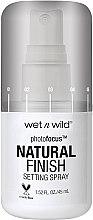 Voňavky, Parfémy, kozmetika Sprej na fixáciu make-upu - Wet N Wild Photofocus Natural Finish Setting Spray